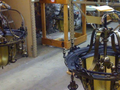 Restored Washington Irving Chandeliers are Prepared for Pickup