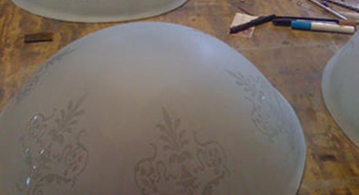 Glass Bowls Slumped for Paola Community Center