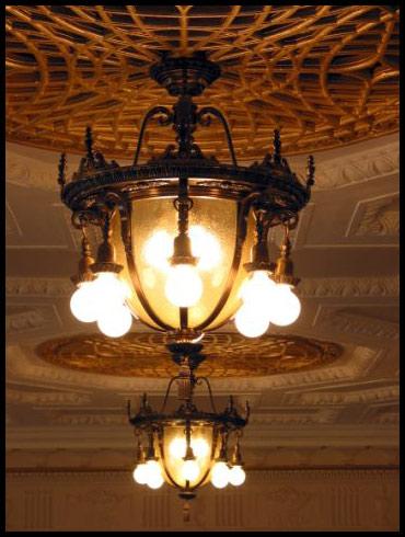 Restored Washington Irving Auditorium Chandeliers.jpg