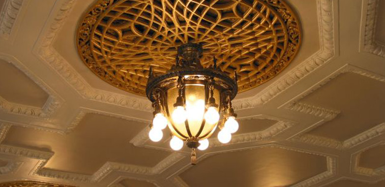 Washington Irving Intermediate School Restored Chandeliers Installed