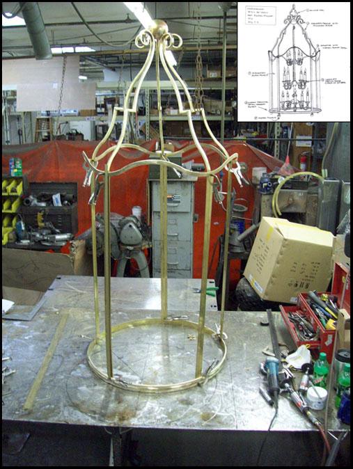 Custom Chandelier Fabrication