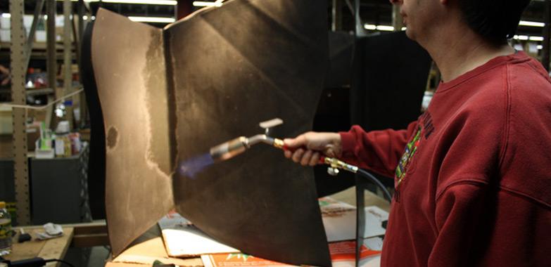 Restoration of Yale Morse and Stiles Lighting Fixtures Begins