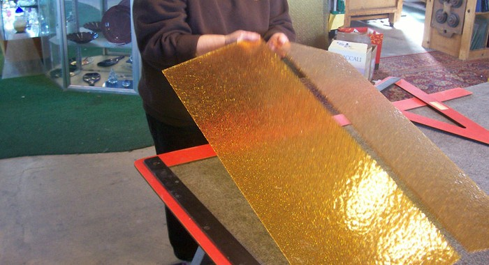 Glass is Fabricated and Cut to Match Historic Glass from Yellowstone Lighting Fixtures