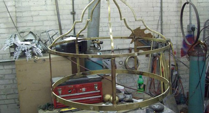 Fabrication of Custom Chandeliers for Tower Hill First Presbyterian Church Nearing Completion