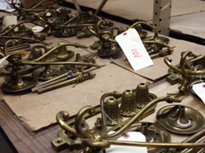 Restoration of Lighting Fixtures from Historic Home in West Hartford Begins