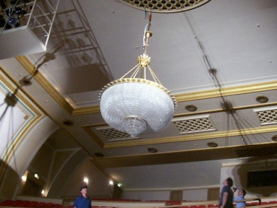 Saenger Theatre Chandelier Completed