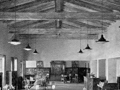 Malaga Cove Library Historic Lighting Replication Begins