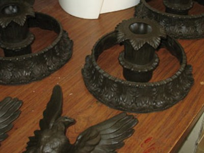 Columbia University Finial Casting Complete