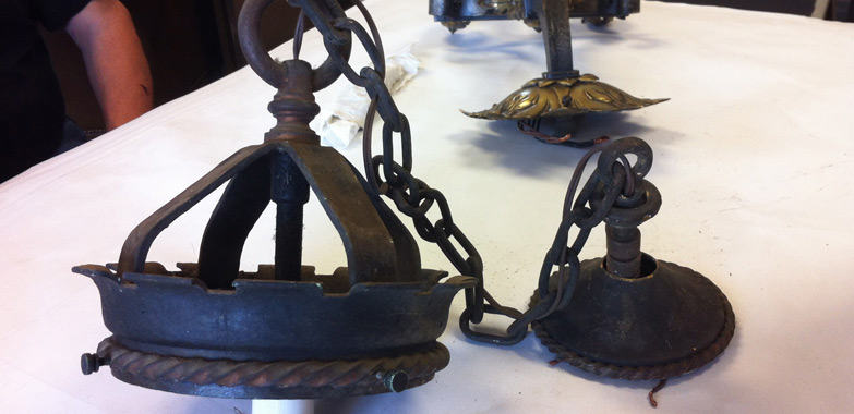 Yale Sterling Chemistry Light Fixture Replication and Globe Replacement