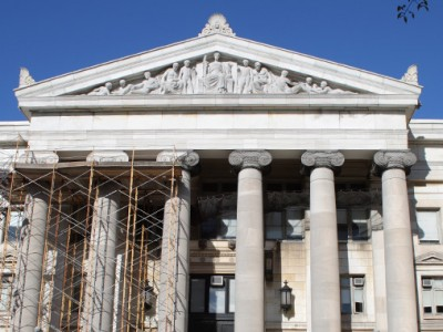 New Haven Courthouse Exterior Bronze Light Fixture Restoration