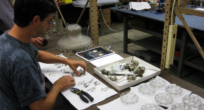 Minute Man National Historical Park Historic Crystal Chandelier Restoration