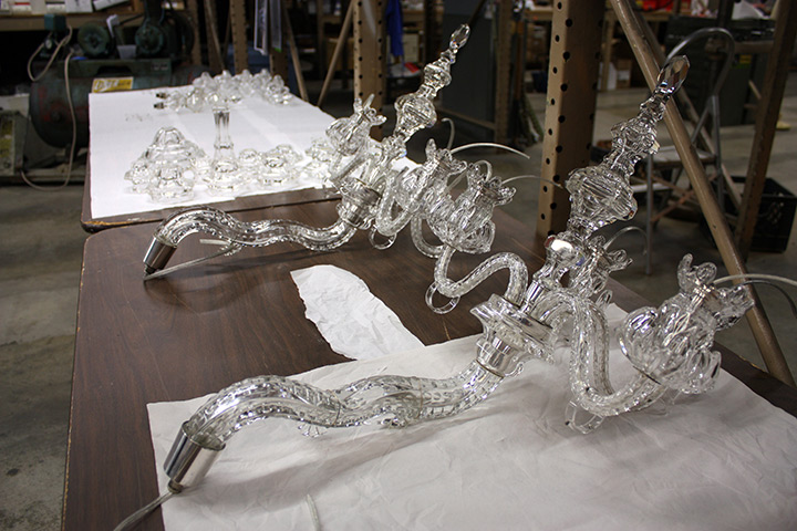 New Haven Museum Crystal Chandelier Restoration