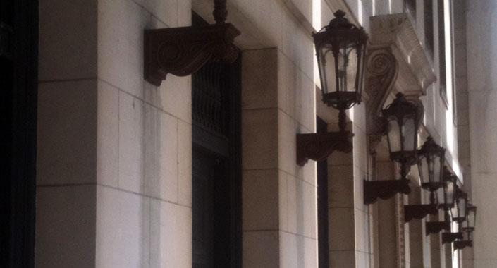 Springfield City Hall Historic Wall Sconce Post Lighting Restoration