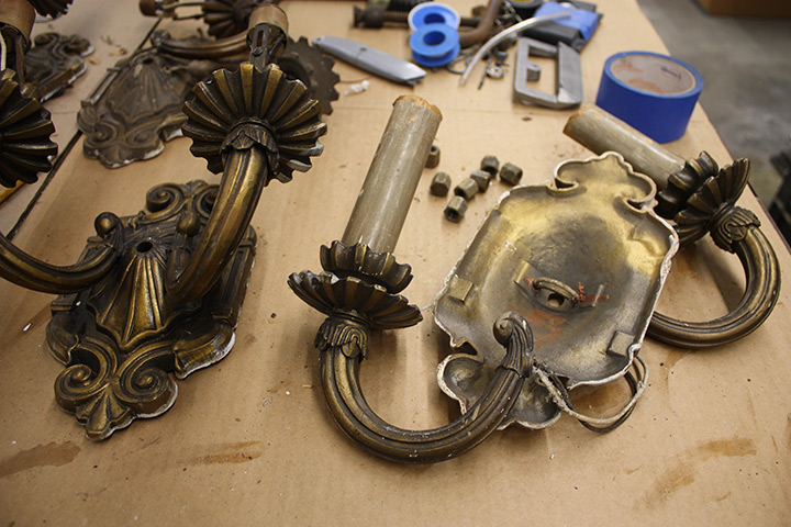 Weehawken High School Wall Sconce Lighting Restoration