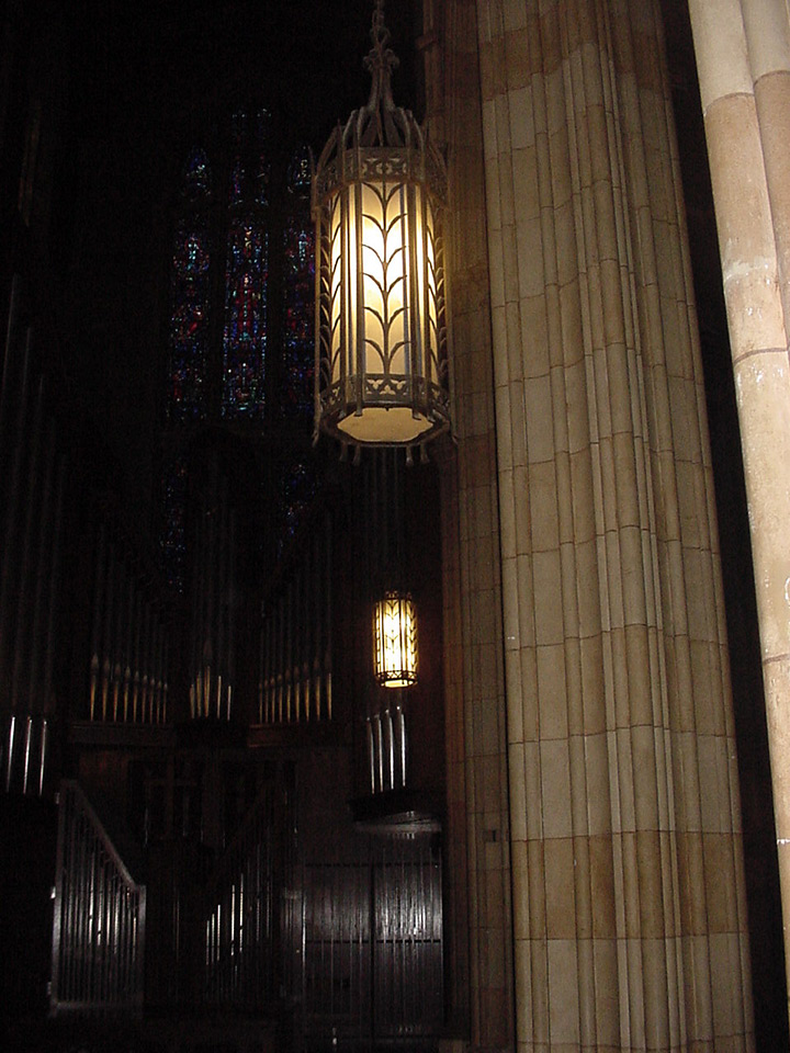 Yale University Timothy Dwight Hall Pendant Lighting Restoration