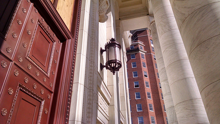 New Haven Courthouse Exterior Lanterns Lighting Restoration