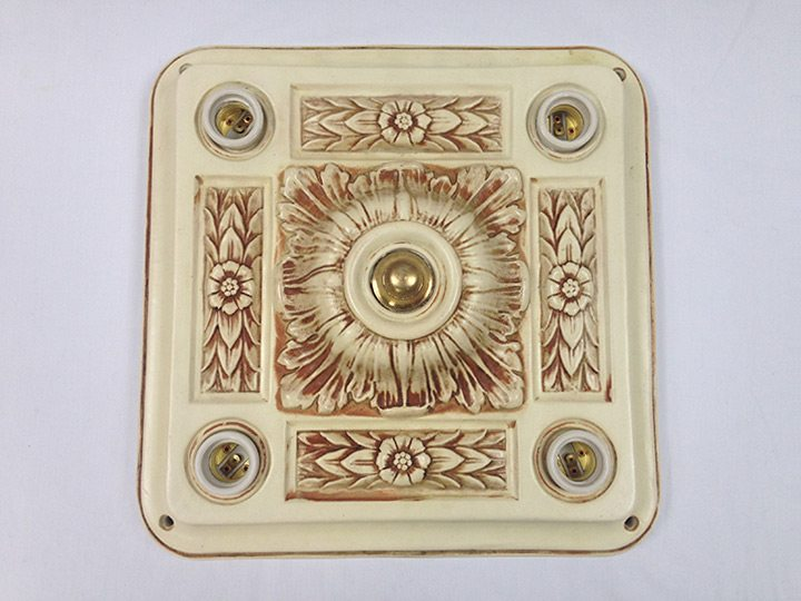 yellowstone national park mammoth hot springs hotel ceiling lighitng restored