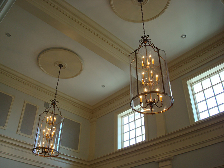 Tower Hill First Presbyterian Church Custom Chandeliers
