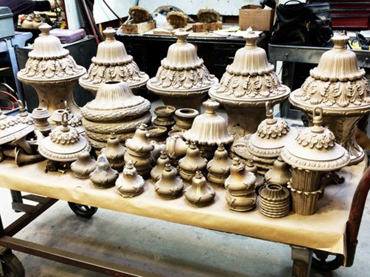 Hudson County Courthouse Historic Lighting Fixture Replication Castings