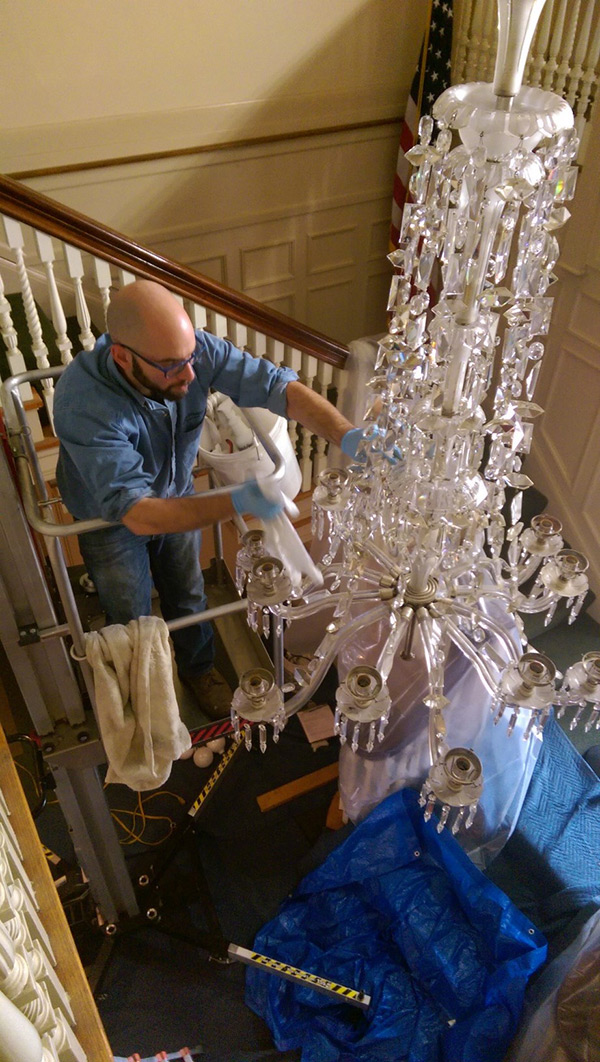 Minute-Man-National-Historical-Park-Chandelier-Cleaning-3