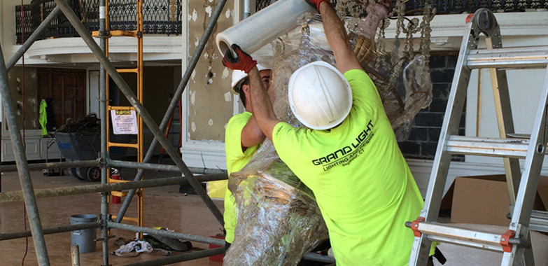 Hotel Syracuse Lighting Restoration Begins Grand Light