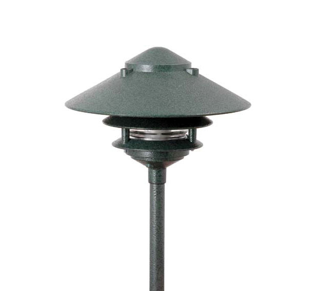 Pagoda hat 3 tier 10 integrated led cast aluminum 120v area pagoda hat 3 tier 10 integrated led cast aluminum 120v area landscape light mozeypictures Choice Image