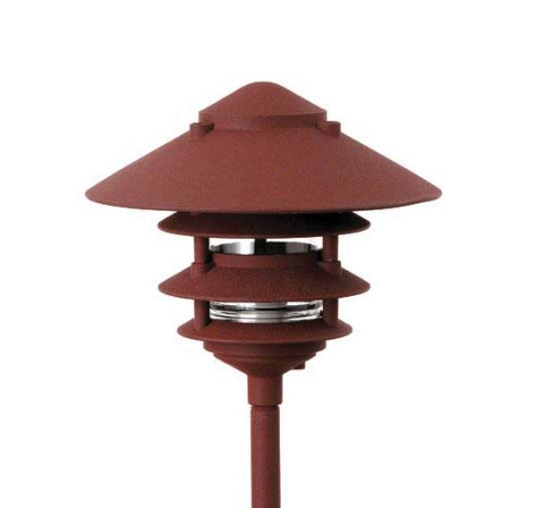 Low voltage 12 volt area landscape lighting pagoda hat 4 tier 10 incandescent cast aluminum 12v area landscape light aloadofball Image collections