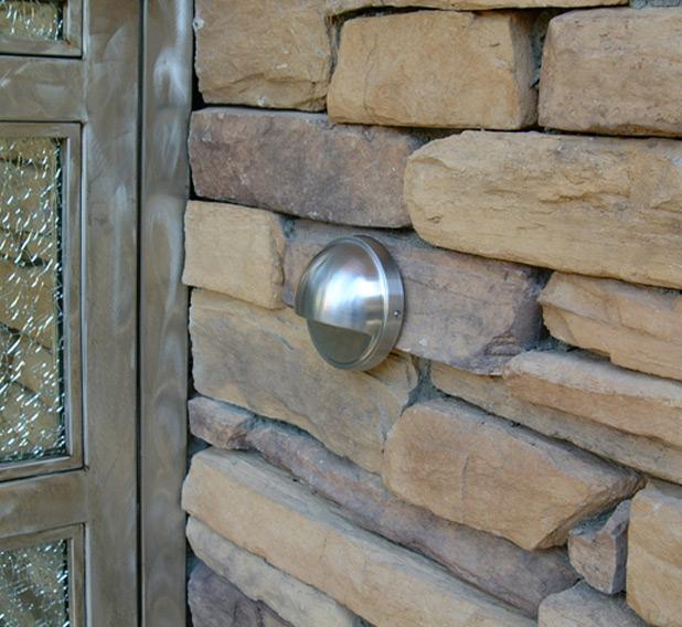 Stainless Steel 12v Step Brick Landscape Light Facebook Share
