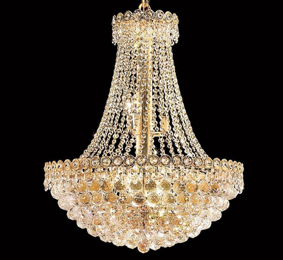 Century Collection 12 Light Large Crystal Chandelier