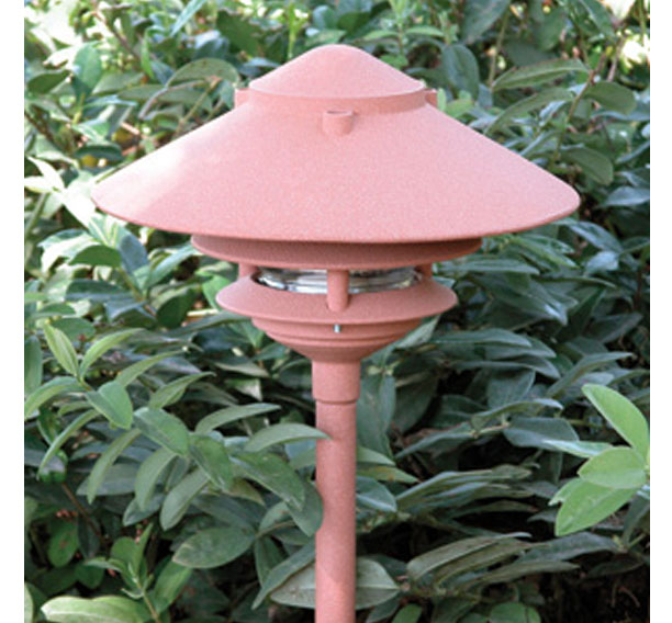 Pagoda hat 3 tier 10 incandescent cast aluminum 120v area landscape pagoda aloadofball Image collections