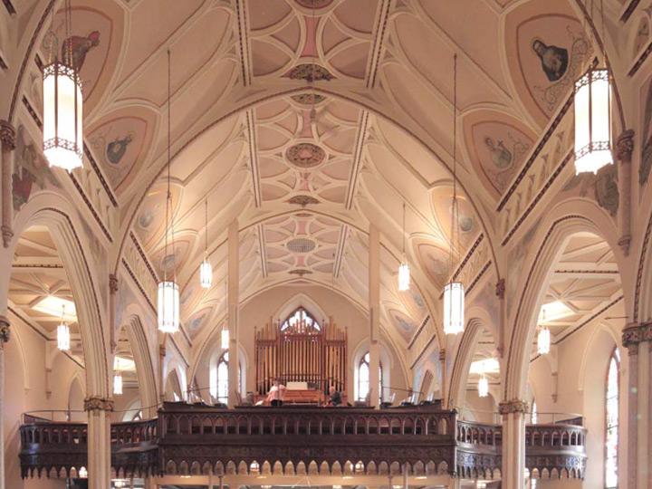 St peters church led lighting retrofits grand light st peters church aloadofball Image collections