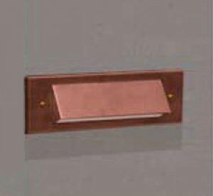 1 Louver Brick Light LED Copper 12v Step & Brick Landscape Light