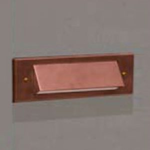 1 Louver Brick Light LED Copper 12v Step & Brick Landscape Light