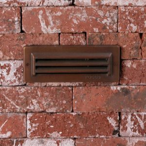 "3 Louver Brick Light 8.25"" Incandescent Solid Brass 12v Step & Brick Landscape Light"
