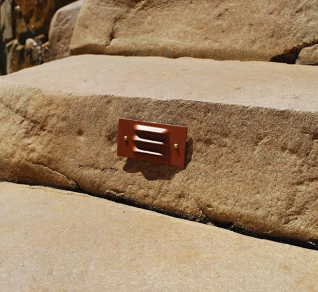 3 Louver Step Light Incandescent Cast Aluminum 12v Step & Brick Landscape Light