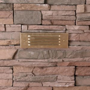 4 Louver Brick Light LED Solid Brass 12v Step & Brick Landscape Light