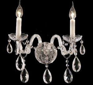 Alexandria-Collection-Medium-Crystal-Wall-Sconce-2-Bulbs-Chrome