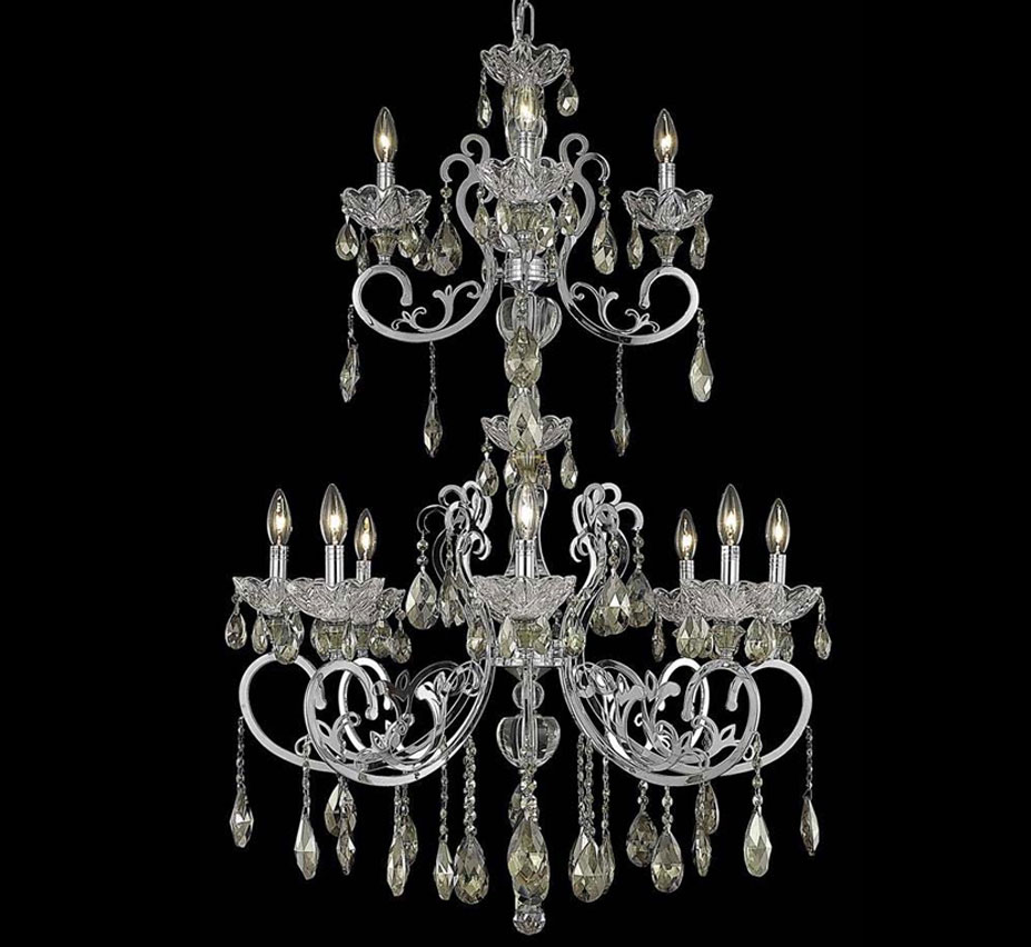 Extra large crystal chandeliers aria collection 12 light extra large crystal chandelier aloadofball Image collections