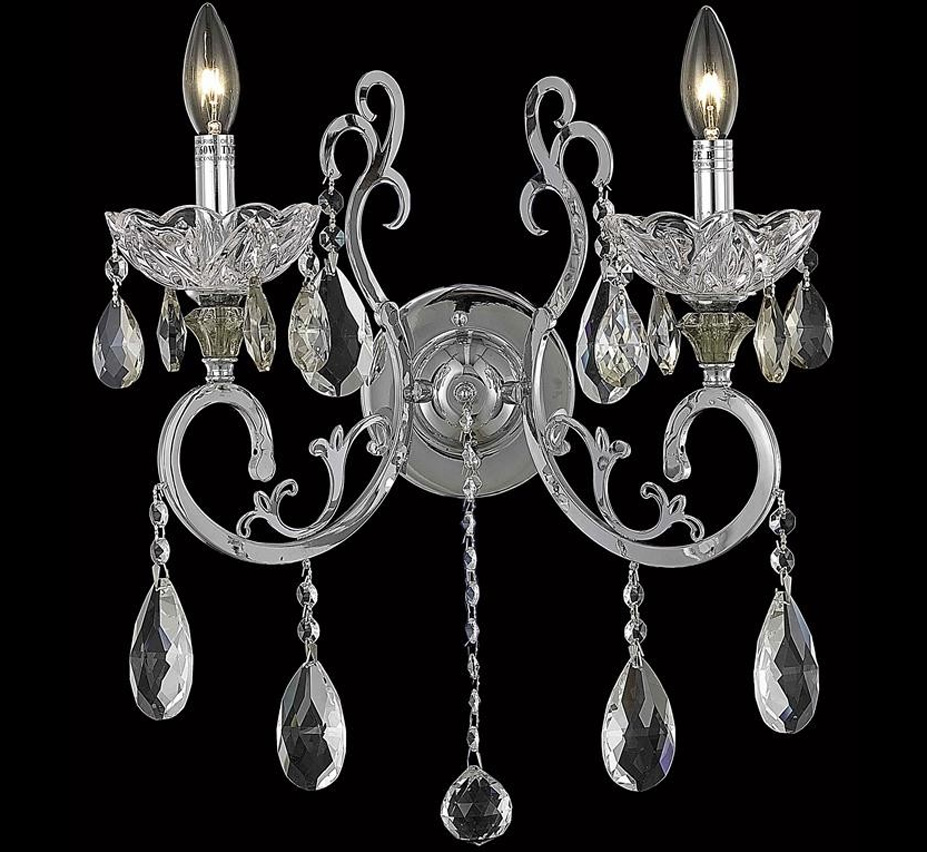 Large Crystal Wall Sconces : Aria Collection 16? W Large Crystal Wall Sconce Grand Light