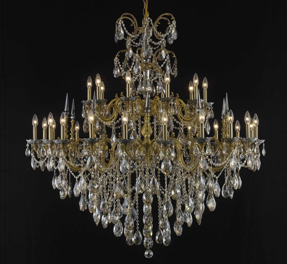 Rome collection 30 light extra large brass crystal chandelier large brass crystal chandelier facebook share aloadofball Image collections