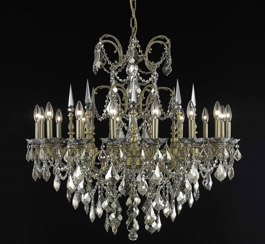 Milan Collection 16 Light Large Crystal Chandelier Grand