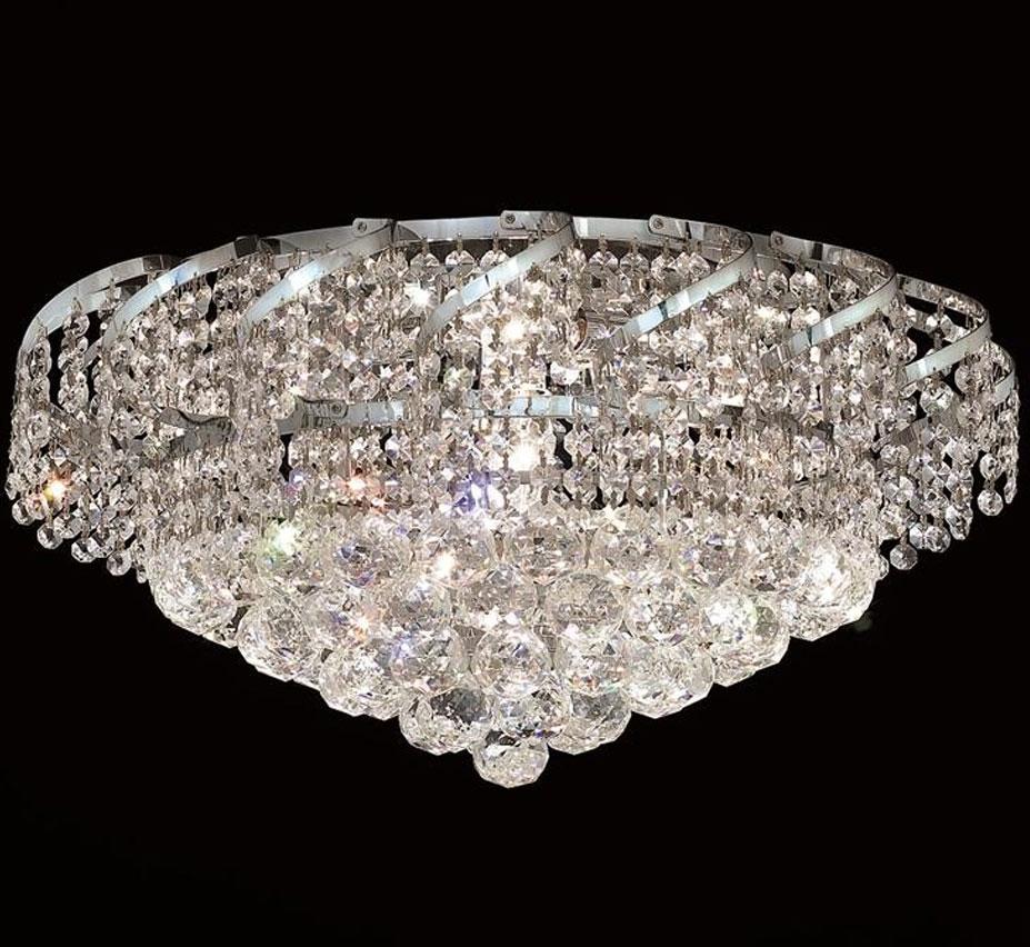 Bellenus Collection 20 Dia Large Crystal Flush Mount Ceiling Light