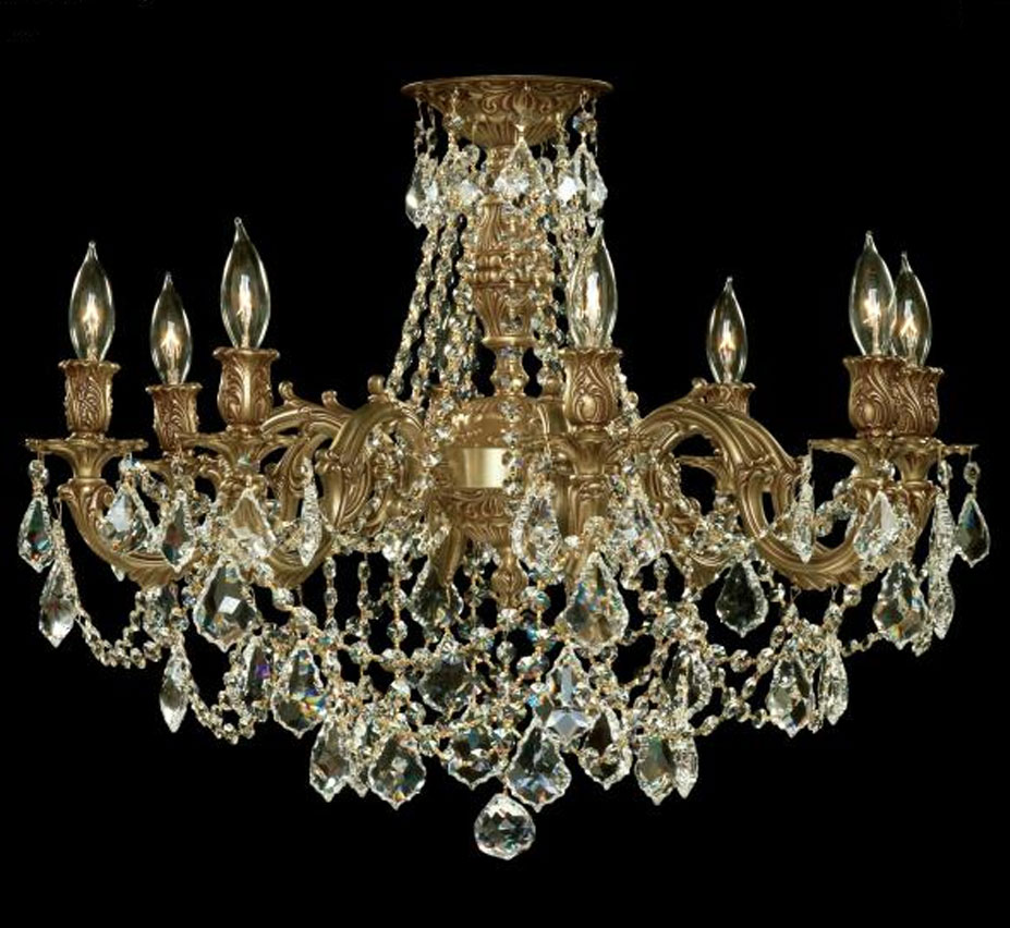 Biella collection 24 dia extra large brass crystal semi flush biella collection 24 dia extra large brass crystal semi flush ceiling light aloadofball Image collections