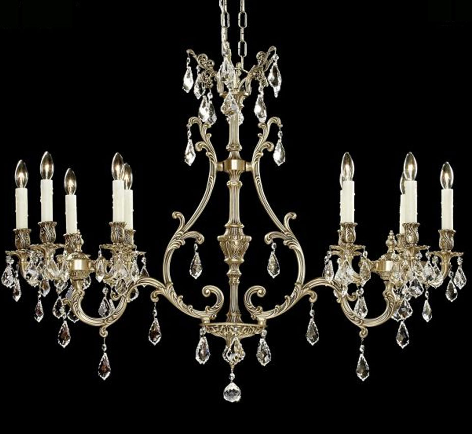 Chateau Collection 10 Light Linear Chandelier Grand Light