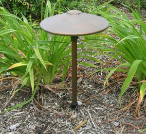 "China Hat 10"" LED Solid Brass 12v Area Landscape Light"