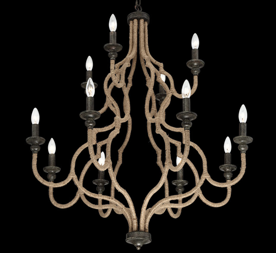 Corda 12 light large transitional chandelier grand light for Large modern chandelier lighting