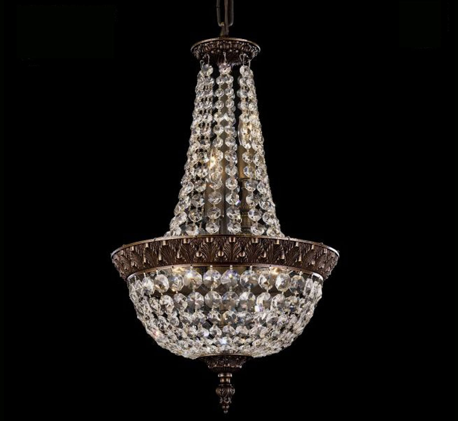 Corinthian Collection 12 Dia Medium Brass Crystal