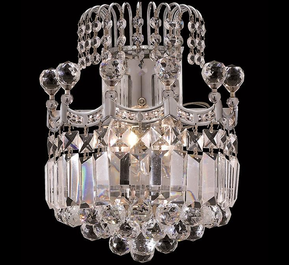Large Crystal Wall Sconces : Corona Collection 16? W Large Crystal Wall Sconce Grand Light