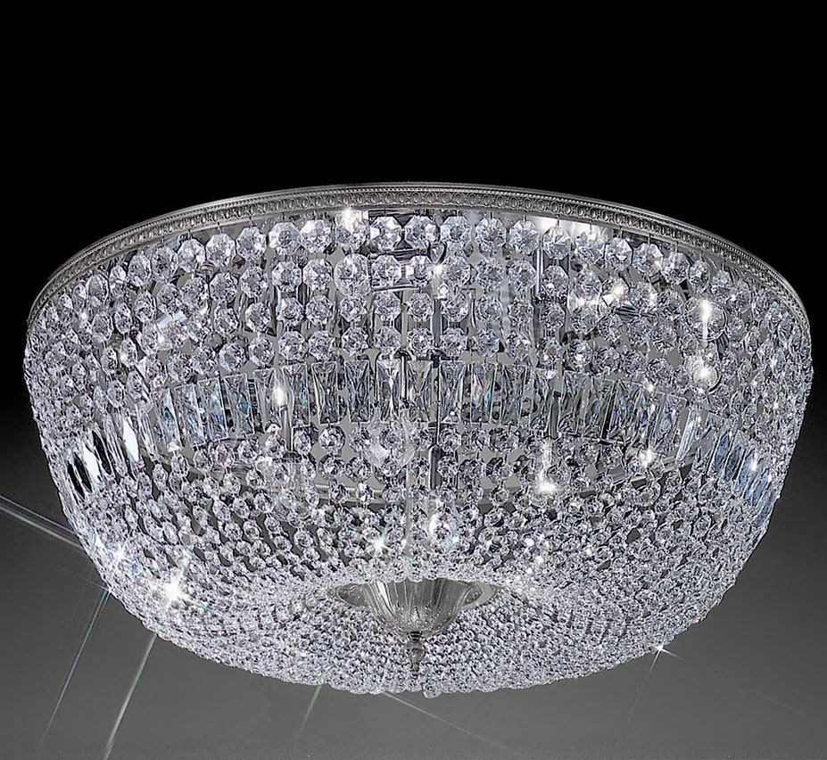 Crystal Baskets Collection 36 Dia Extra Large Brass