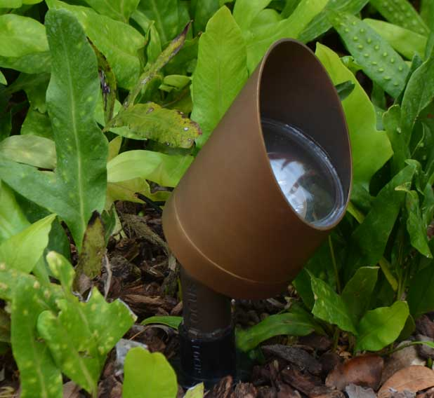 """Swivel Bullet 3.125"""" LED Copper 12v Directional Spot Landscape Light"""